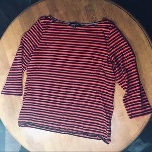 Black and red stripe Jones New York top size XL